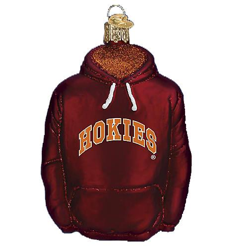Virginia Tech Hoodie 64303 Old World Christmas Ornament