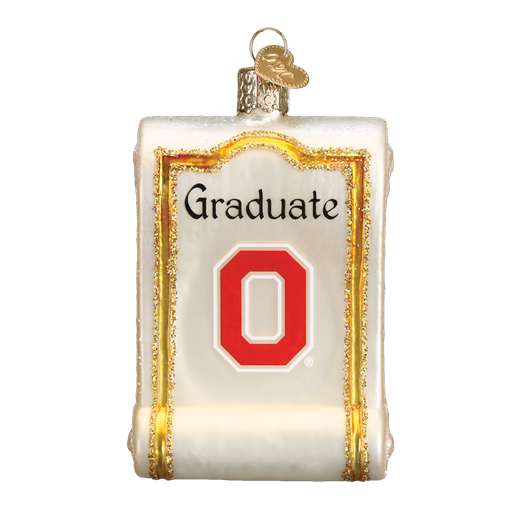 Ohio State Diploma Old World Christmas Ornament