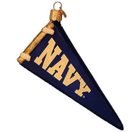 Navy Pennant 65106 Old World Christmas Ornament