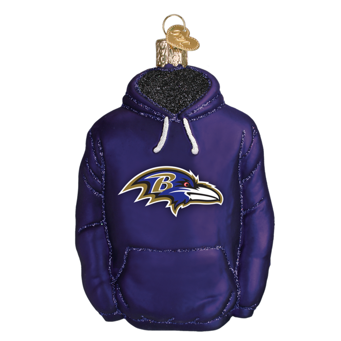 Baltimore Ravens Hoodie 70303 Old World Christmas Ornament