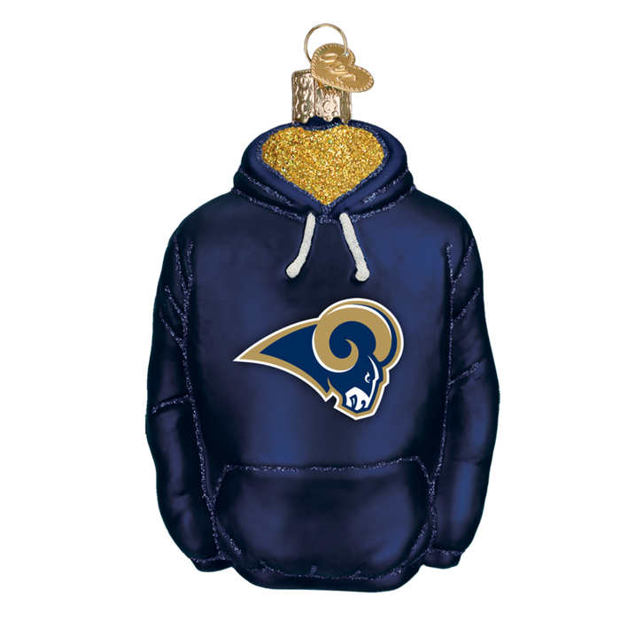 Los Angeles Rams Hoodie 71703 Old World Christmas Ornament