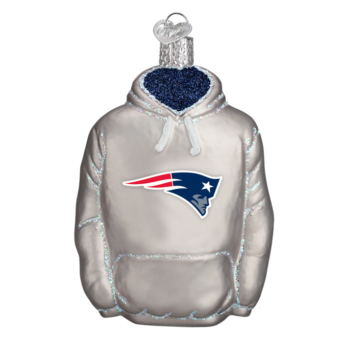New England Patriots Hoodie 72003 Old World Christmas Ornament