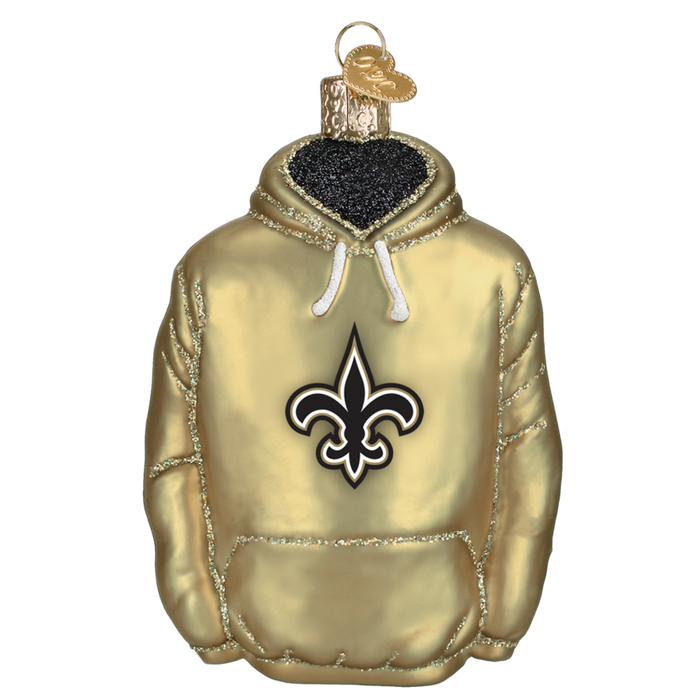 New Orleans Saints Hoodie 72103 Old World Christmas Ornament