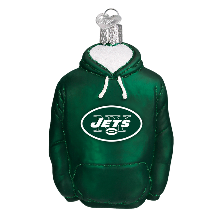 New York Jets Hoodie 72303 Old World Christmas Ornament