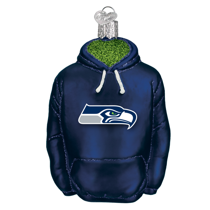 Seattle Seahawks Hoodie 72903 Old World Christmas Ornament