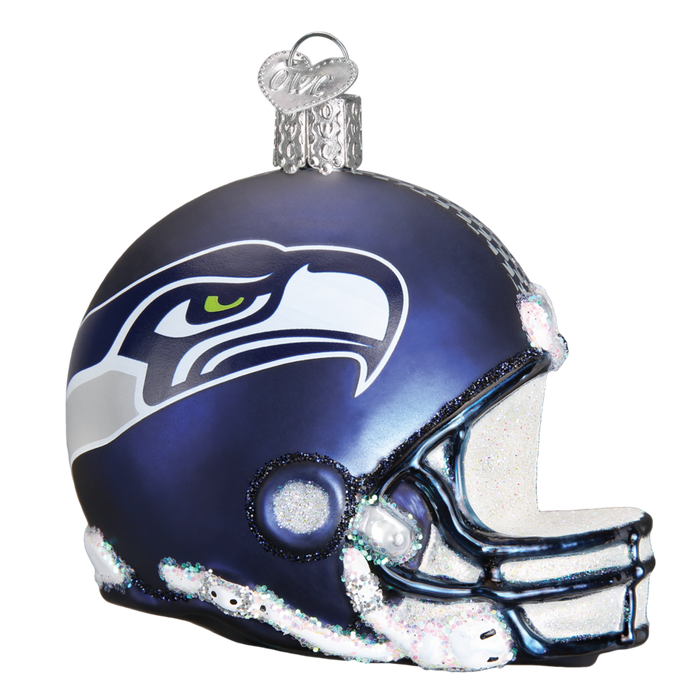Seattle Seahawks Helmet 72917 Old World Christmas Ornament