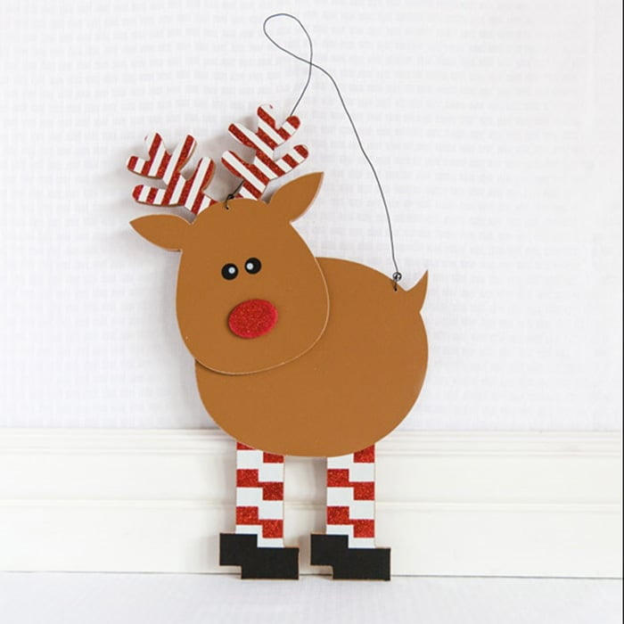 Wood Reindeer Wall Hanging
