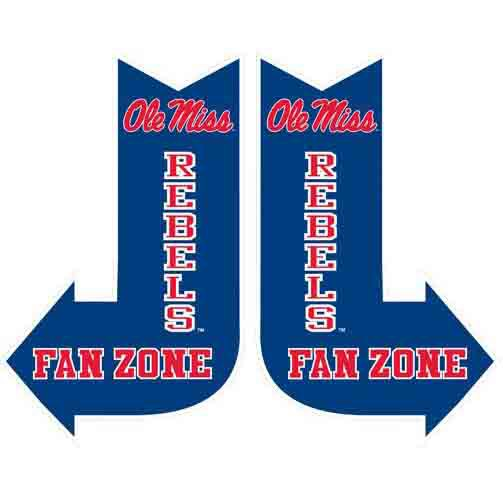 Ole Miss Fan Zone Sign
