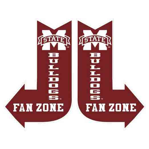 Mississippi State Fan Zone Sign