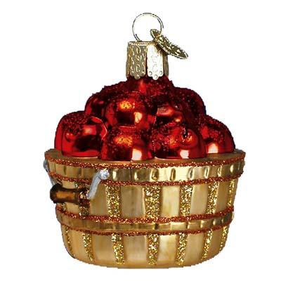 Apple Basket 28060 Ornament Old World Christmas