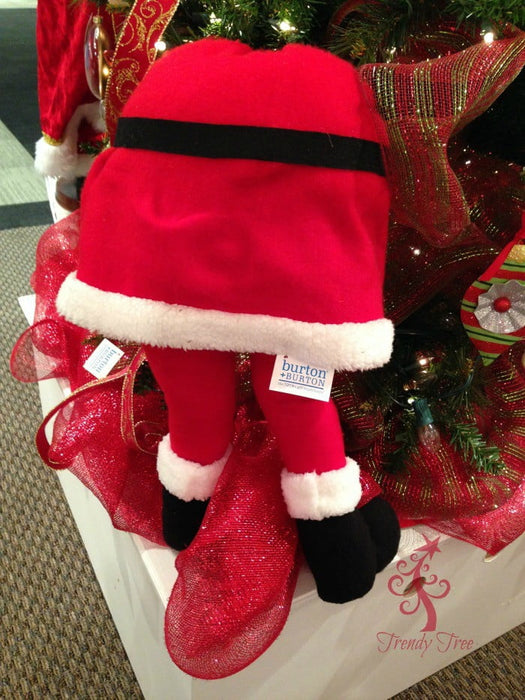 "21"" Small Santa Butt with Legs Christmas Decoration"