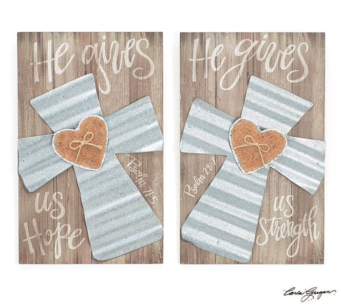 Religious Message Wall Hanging Set of 2