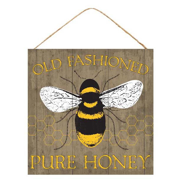 "10"" Brown Old Fashioned Pure Honey Sign AP8353"