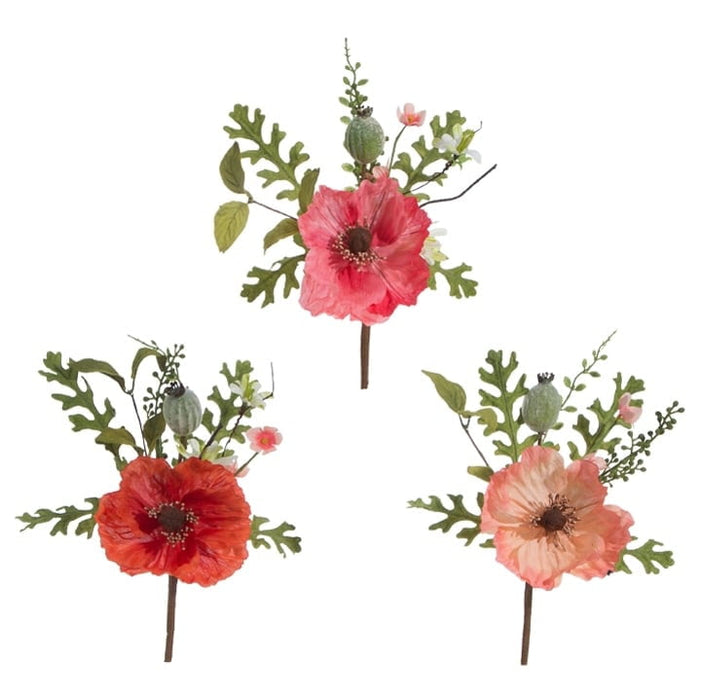 "RAZ 12"" Poppy Pick Set of 3"
