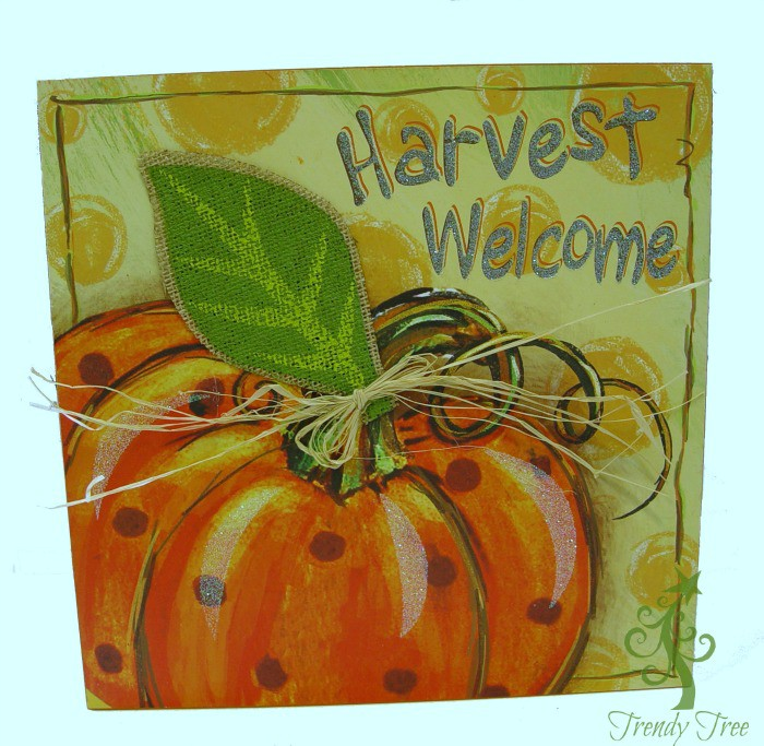 Embellished Harvest Wall Hanging Set of 2