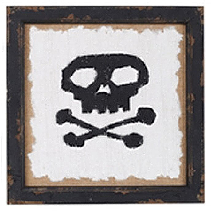 Rustic Skull Halloween Sign