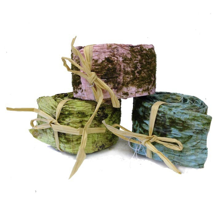 "2.5"" Faux Mossed Birch Ribbon Assorted Colors"