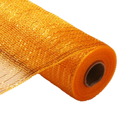 "21"" Bright Gold Metallic Deco Poly Mesh"