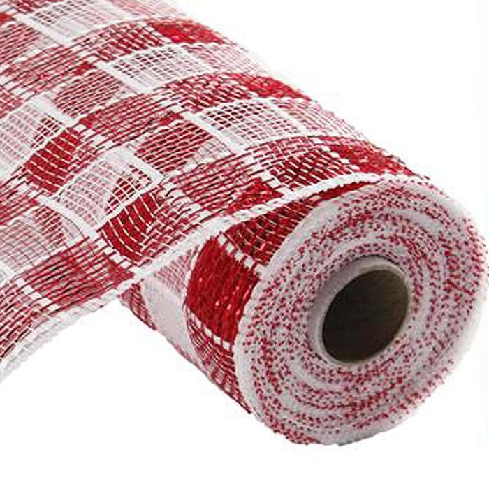 "21"" Red White Check Mesh RE1067N5"