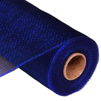 "10"" Navy Blue Deco Poly Mesh RE130219"