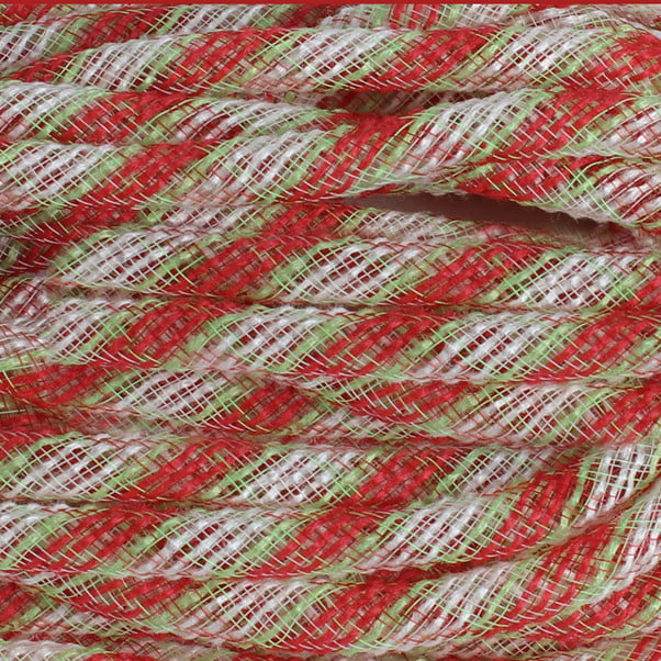 Faux Jute Flex Tubing Red Fresh Green Cream