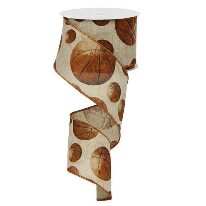 "2.5"" Vintage Basketball Ribbon RG0147701"
