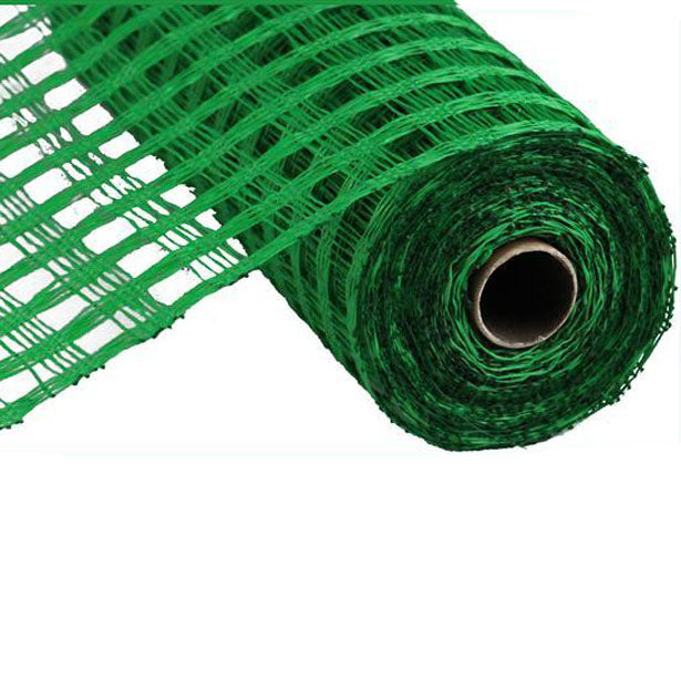 "10"" Emerald Green Poly Burlap Check Mesh"