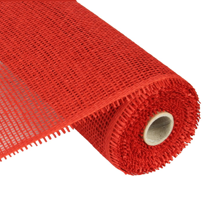 Woven Paper Mesh Red 10""