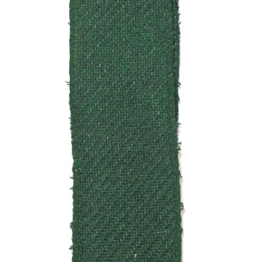 "1.5"" Hunter Green Diagonal Linen Ribbon"
