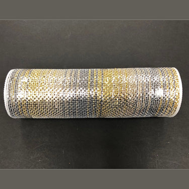 "10"" Pewter Gold Silver Ombre Metallic Mesh"