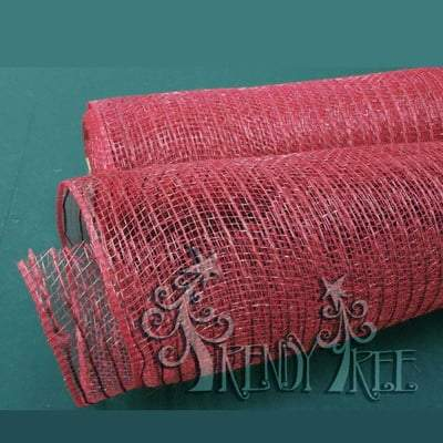 "10"" Deep Cranberry Burlap Mesh Roll"