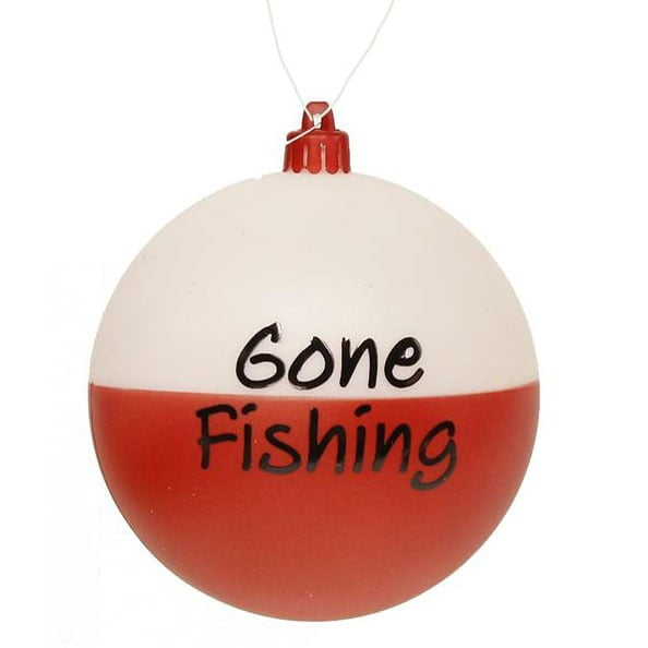 "4"" Gone Fishing Bobber Ball Ornament XY8037"