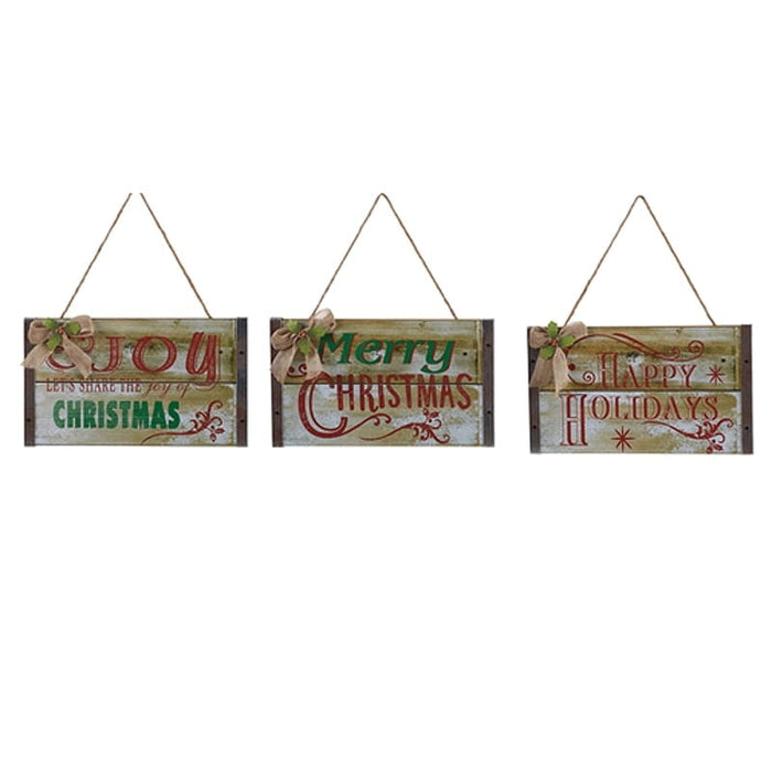 Wood Christmas Sign Set of 3