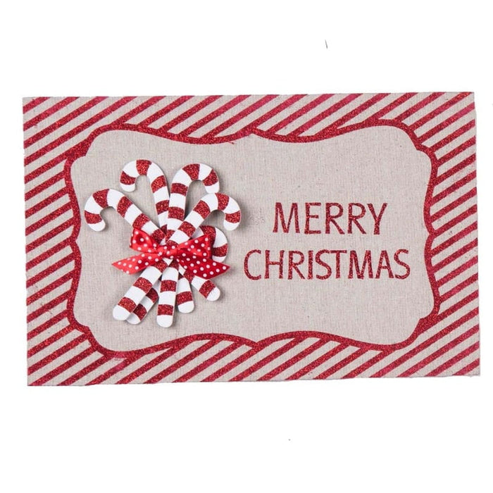 Merry Christmas Wall Art Candy Canes