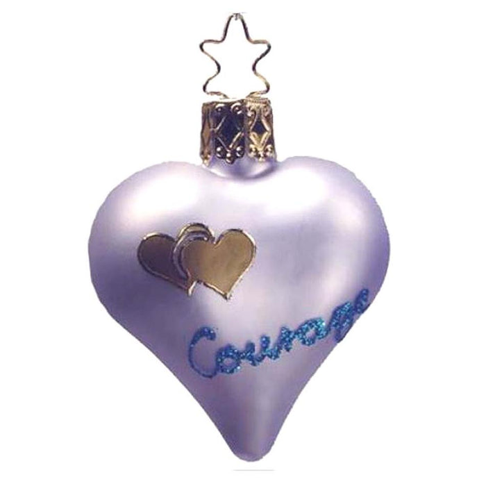 Courage Lavender Heart Inge-Glas Christmas Ornament 1-173-06
