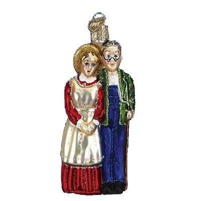 Farm Couple 10190 Old World Christmas Ornament