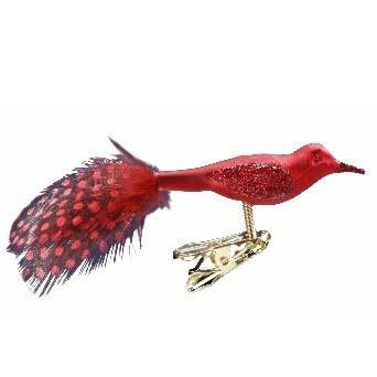Jeweled Tunes Red Bird Inge-Glas Ornament