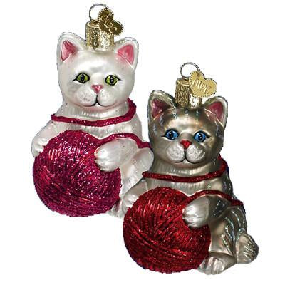 Playful Kitten 12170 Old World Christmas Ornament Assorted