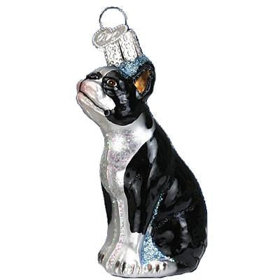 Boston Terrier Dog 12290 Old World Christmas Ornament