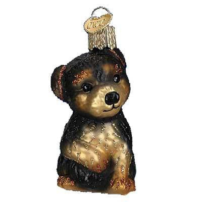Yorkie Puppy 12348 Old World Christmas Ornament