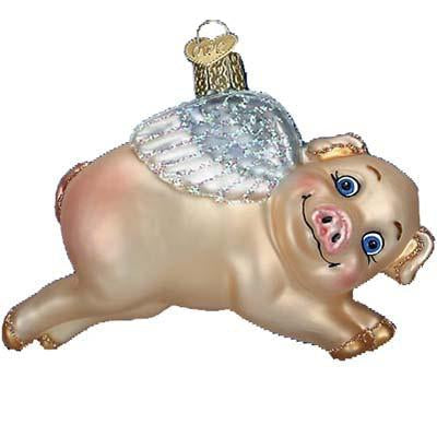 Flying Pig 12352 Old World Christmas Ornament