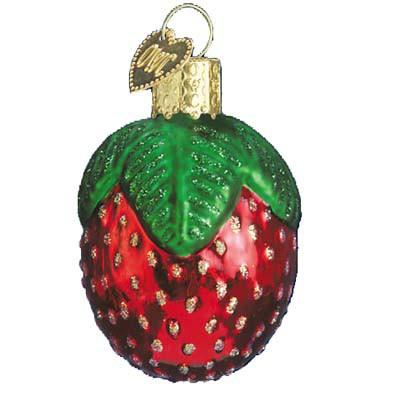 Sparkling Strawberry 28021 Old World Christmas Ornament