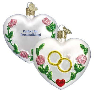 Wedding Heart 30013 Old World Christmas Ornament