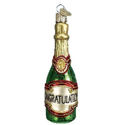Champagne Bottle 32097 Old World Christmas Ornament