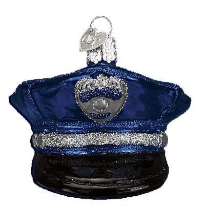 Police Officer's Cap 32138 Old World Christmas Ornament