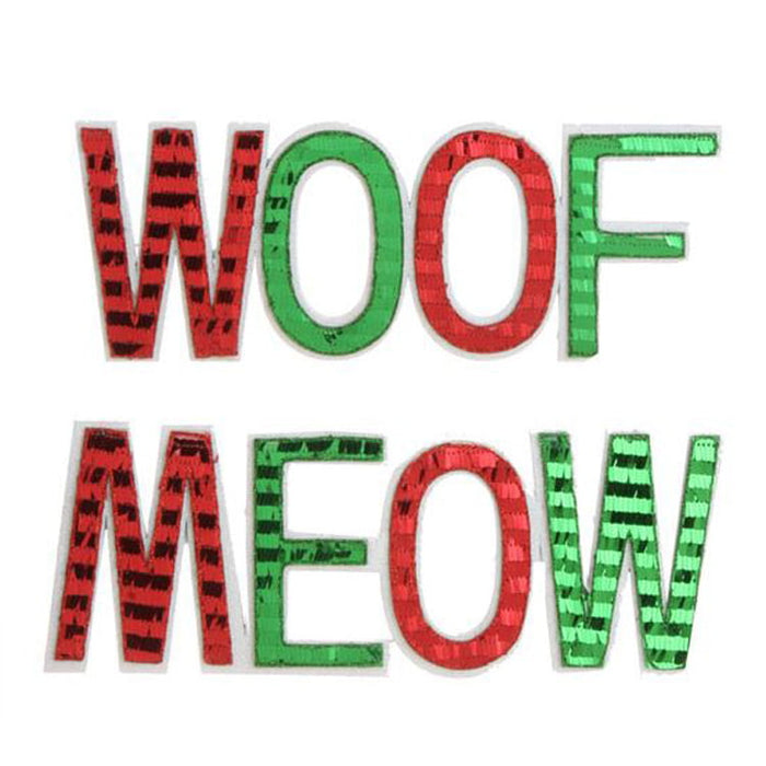 RAZ Meow or Woof Sequined Ornaments