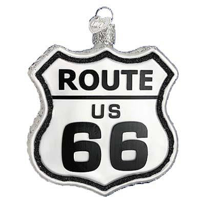 Historic Route 66 Road Sign 36136 Old World Christmas Ornament