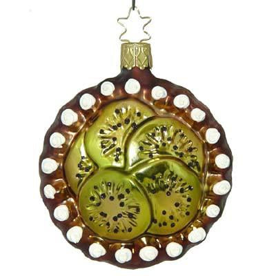 Kiwi Torte Christmas Ornament Inge-Glas of Germany 68107