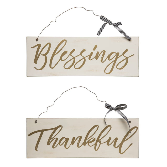 Golden Blessings or Thankful Signs Assorted J8659