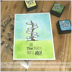 Joy Clair Going Places Stamp Set- Oh, The Places You'll Go! Graduation